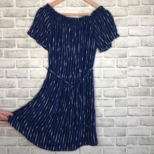 NWT Charles Henry Navy Dress